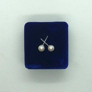 💛 925 White Pearl Earrings